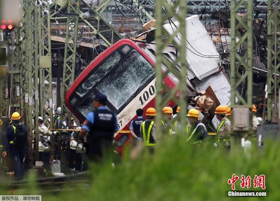 Truck collides with passenger train in Japan