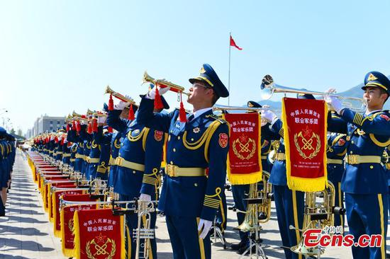 Military band prepares for National Day parade